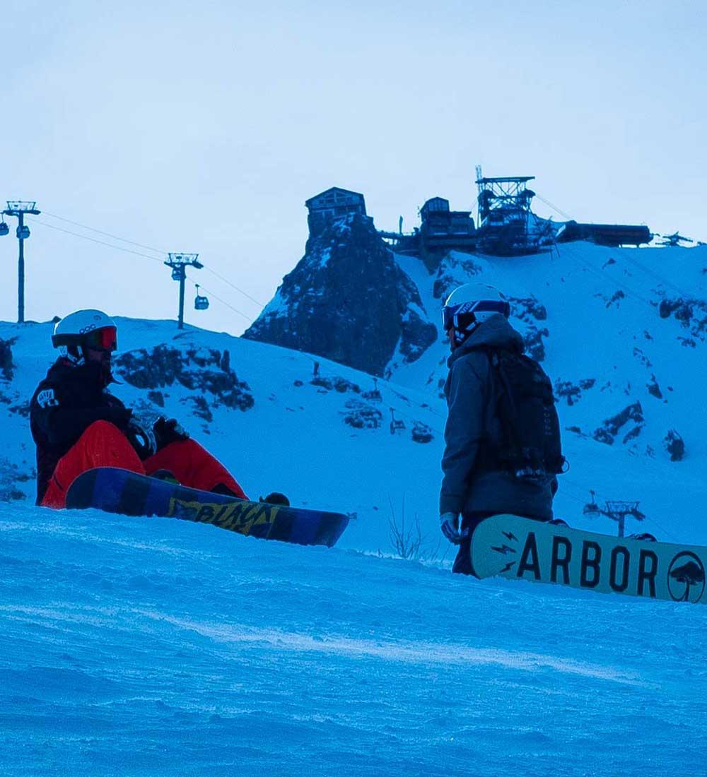 Snowboard lesson in Courchevel